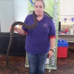 Helen being brave when the animal man visited
