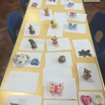 Our lovely painted pots and models when we had a ceramics visitor