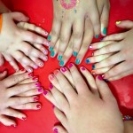 We had fun getting our nails painted