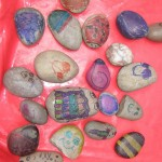 Look at all our colourful stone bugs.