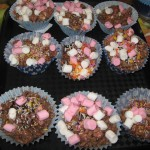 Mmmm rice Krispie and marshmallow cakes