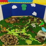 We had fun creating our own small world safari park