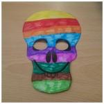 We made skull masks ready for Halloween