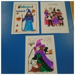 Our lovely Halloween colouring