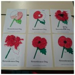 Look at our poppies for remembrance day, we will never forget.