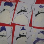 We're starting to get all excited now, look at our wonderful foamy snowmen