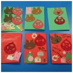 We made some lovely Christmas Cards