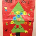 The Christmas Holiday Countdown has begun on our Advent tree made by the children