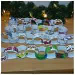 Our wonderful Paper chains ready to hang up
