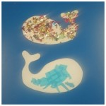 Our lovely bright collage Whales
