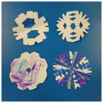 We made some lovely colourful snowflakes for our winter theme