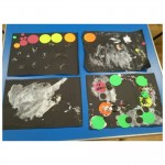 Our EYFS children are learning about space in school so we made some lovely space collages.