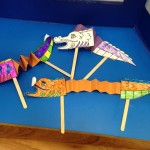 Here are our colourful dragon puppets ready to celebrate Chinese New Year