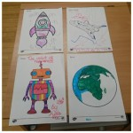 To go with the EYFS children's topic of space we decided to do some space colouring