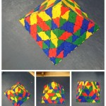 one of our children worked hard creating this pyramid out of polydron.