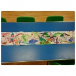 We had fun working as a team and making a metre long group colouring picture