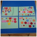 As we are now thankfully heading towards Spring we thought we would make some lovely colourful Spring Collages