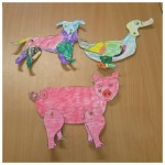 Carrying on with the EYFS farm topic we made some split pin animals on our craft club night