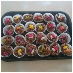 We made some delicious jelly bean chocolate krispie cakes on our cooking night this week. yum yum