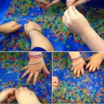 We all had great fun squishing the aquabeads in our hands