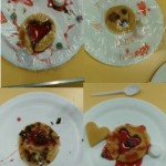 We decorated some pancakes to give to our loved ones on Valentines day, don't they look delicious.