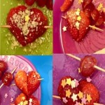 On our cooking night we made some delicious cupid arrow Strawberry treats