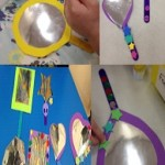 We made our own hand held mirrors, just in time to check on our hair and make up ready for the Valentines Disco at school