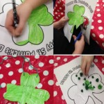 We coloured or collaged our own shamrocks for St Patricks Day