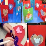 we had fun making cards for our Valentines