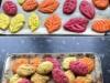 Coloured Leaf Biscuits