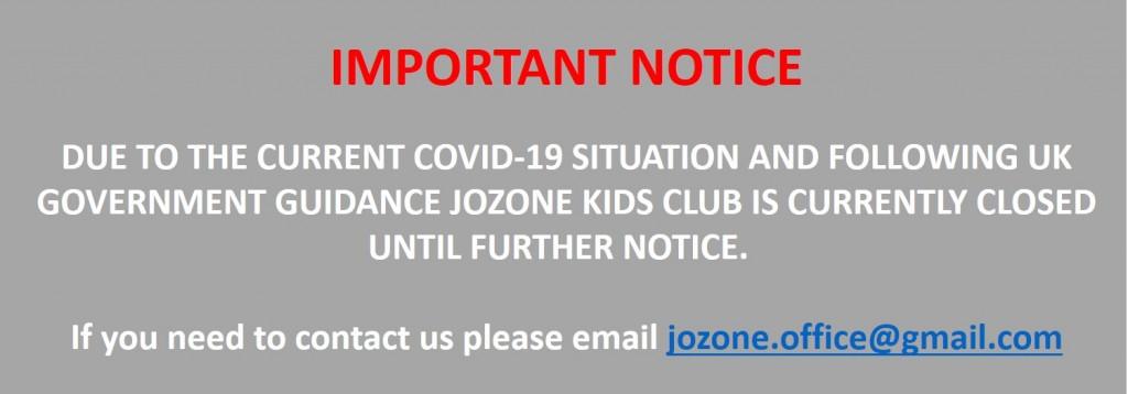 Important notice - Jozone