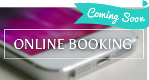 online booking coming soon