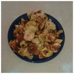 We made some delicious and healthy apple crisps on our cooking night