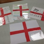 We also made our own St Georges Day placemats