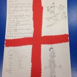 One child was very creative and wrote a wonderful St Georges Day poem on her placemat