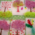 We made some wonderful blossom trees to celebrate the Japanese festival of Kodomono-hi