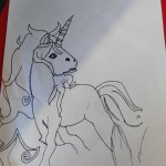 On of our children showed us her talent for drawing with this amazing picture of a unicorn