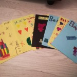 We made some lovely baby boy and birthday cards for Katy