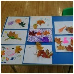 We had fun making some wonderful autumn leaf pictures