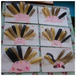 Here are our lovely spiky paper hedgehogs