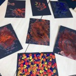 We made some colourful pipecleaner firework pictures for Diwali