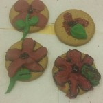 We made some poppy biscuits for remembrance day