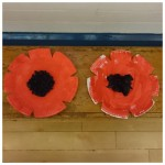 We will not forget, we made these lovely paper plate poppies for remembrance day
