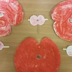 We had fun making all these poppies ready for remembrance day