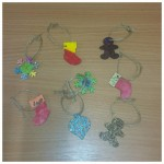 we decorated these lovely wooden ornaments ready to put on our trees