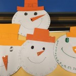 We made some advent snowmen clocks to help us count down to Christmas