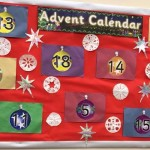 We had fun making our own giant advent calendar.