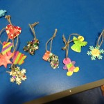 We had great fun decorating these lovely wooden ornaments