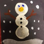 Our EYFS children had so much fun printing snowmen pictures