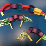 We made some paper chain dragons for Chinese New Year